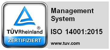ISO 14001:2015 gecertificeerd